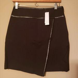 White House Black Market Black Wrap Mini Skirt 2